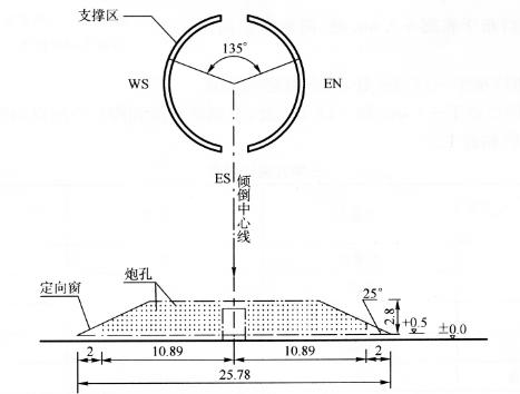 图12-14缺口展开示意图(尺寸单位:m)