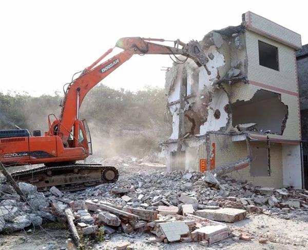 各类建筑物机械拆除的一般顺序