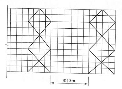 图5-16剪刀撑布置
