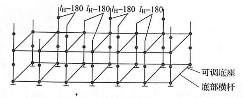 图5-20第一层立杆交错布置