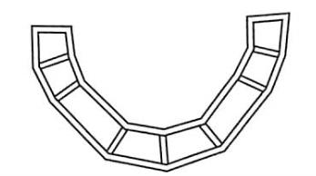图5-25脚手架曲线布置