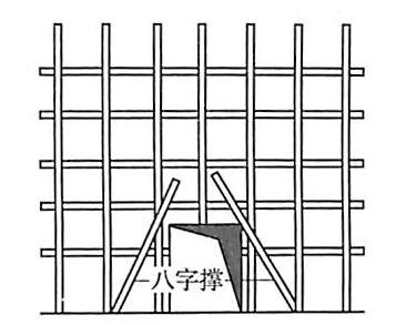 图5-41通道处八字撑布置