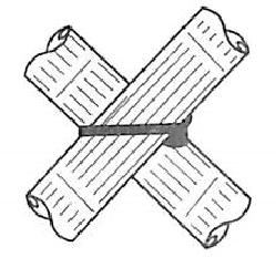 图5-44竹箴绑扎方法