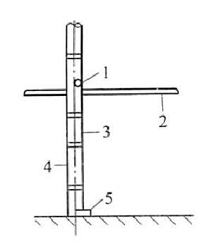 图5-45竹脚手架顶撑设置
