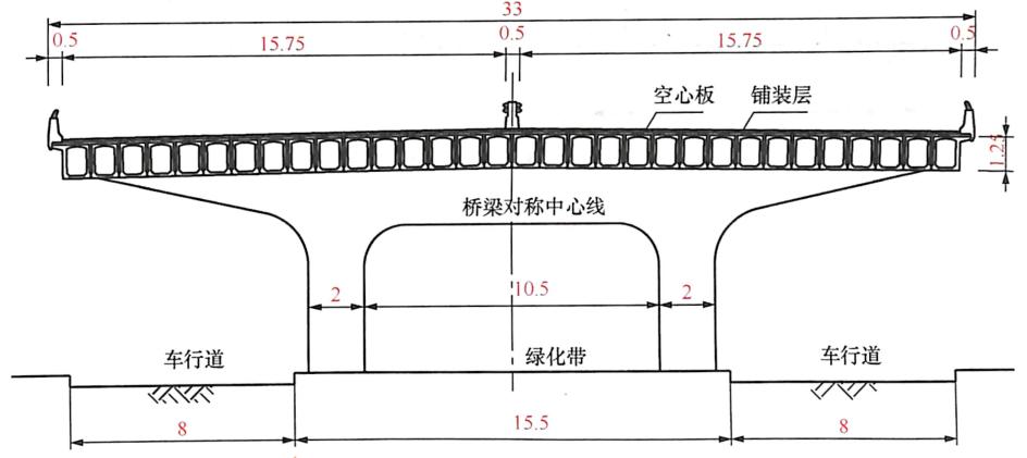 图8-30空心板结构(单位:m)