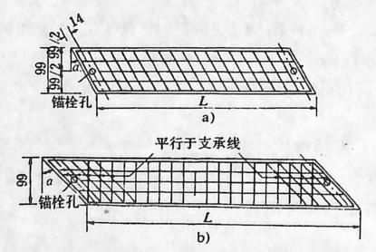 图1-1-20斜板桥块件的钢筋布置