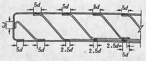图1-1-25多层焊接钢筋骨架的焊缝长度
