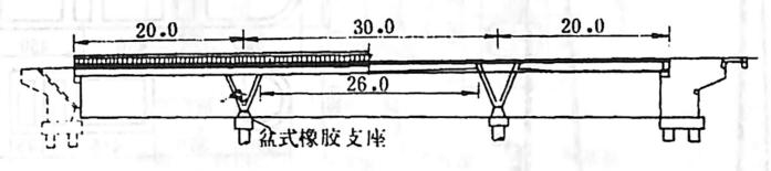 image.png图2-1-81V型支撑连续梁桥 尺寸单位:m