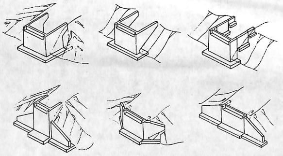 图2-1-88重力式桥台型式三——八字式和一字式桥台