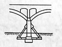 图2-1-102拱桥轻型桥墩型式三斜撑墩