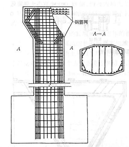 图2-1-130独柱伸臂桥墩钢筋构造