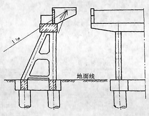 图2-1-147构架式桥台