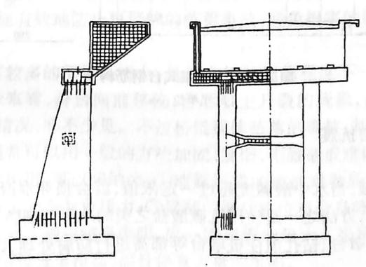 图2-1-149墙式桥台配筋 耳墙配筋与埋置式台没有区别、背墙配筋构造可参考图2-1-150。