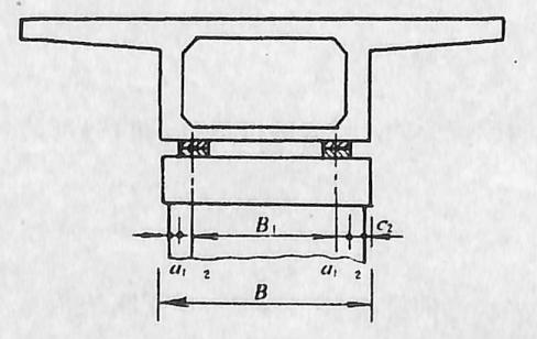 图2-1-168箱形梁桥墩横桥向尺寸