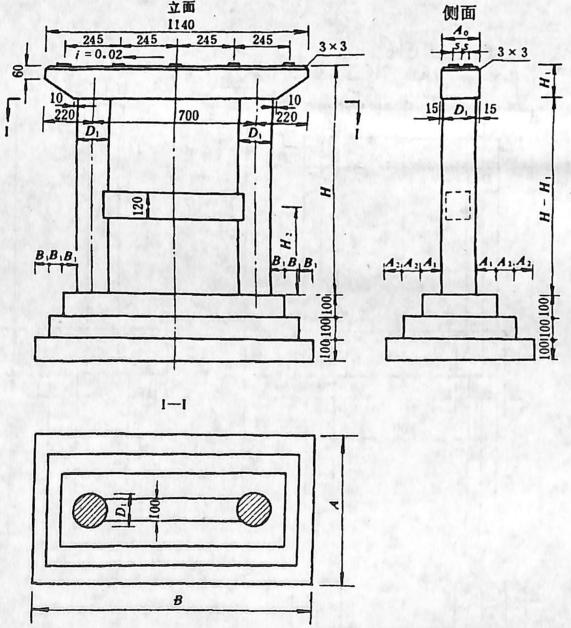 图2-1-187扩大基础柱式墩
