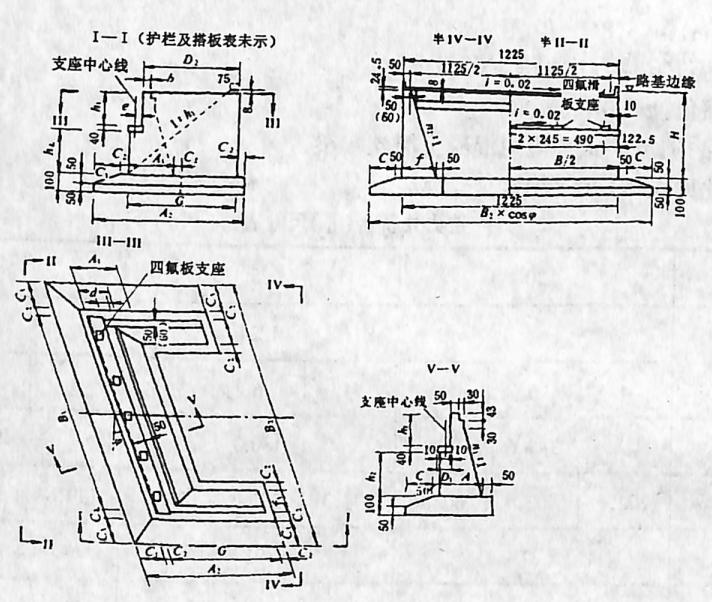 图2-1-197片石混凝土重力式桥台(Ⅲ)