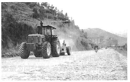 图1.4福建三明24公分厚水泥混凝土路面破碎工程