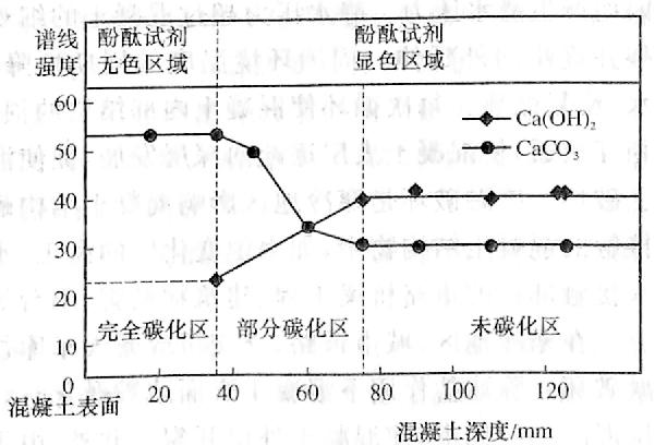 图12-4Ca(OH)2与CaCO,浓度变化曲线